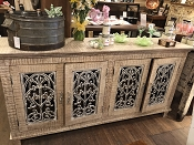 Reclaimed Wood and Iron Sideboard