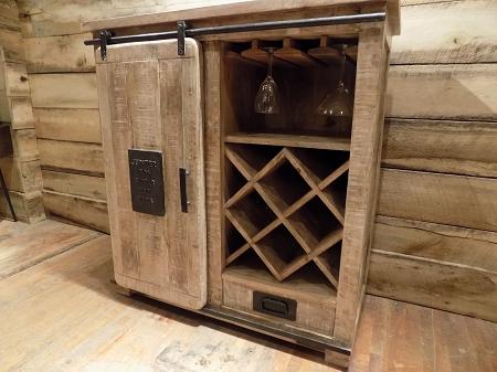 Wine Cabinet Iron Sliding Door