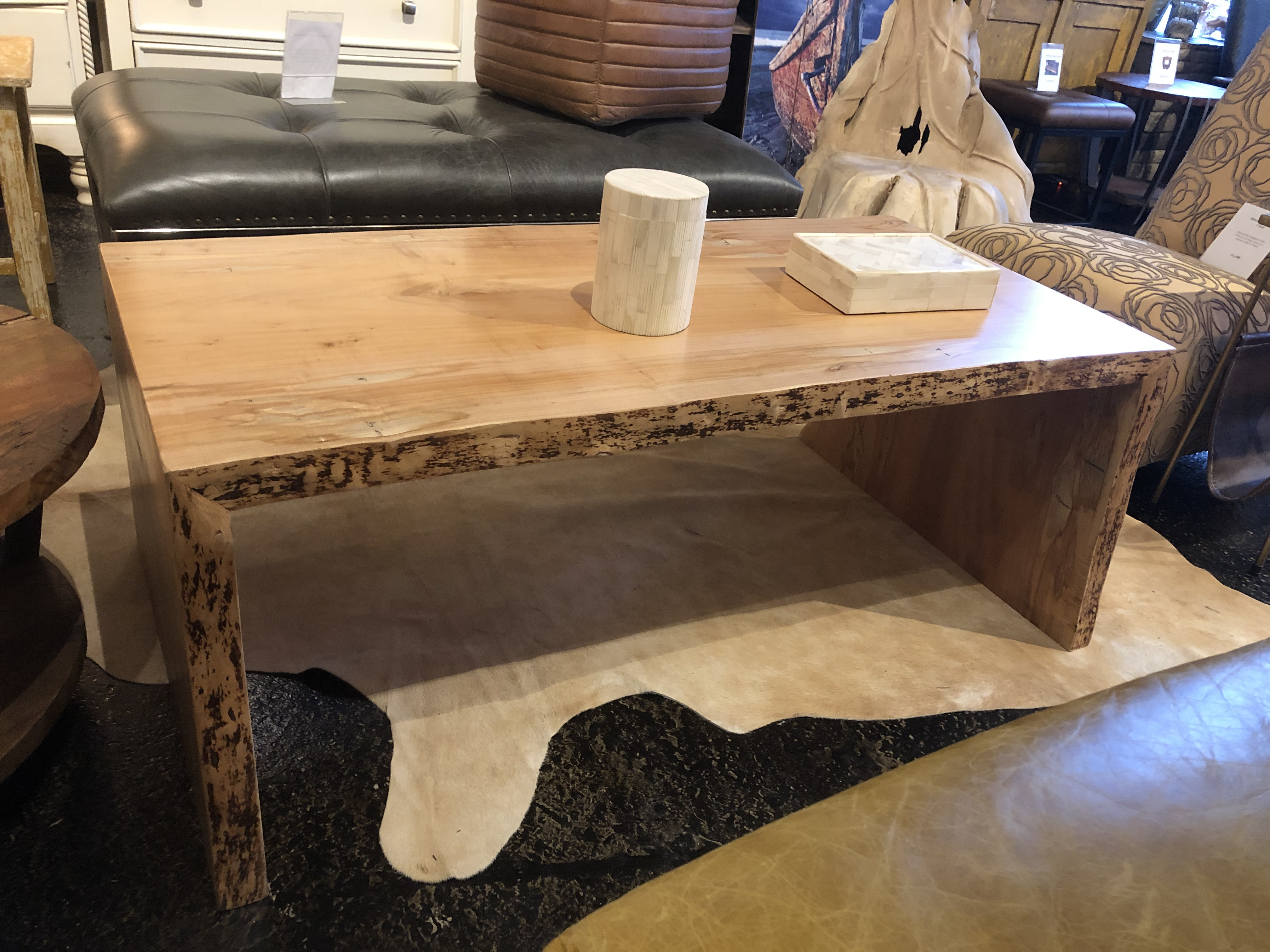 Live Edge Natural Edge Spalted Maple End Table
