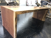 Heart Pine Live Edge Wood Coffee Table or Bench Seat