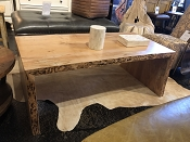 Spalted Maple Live Edge Coffee Table or Bench Seat