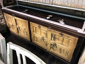 Yellow Paineted 4 Door Console or Buffet