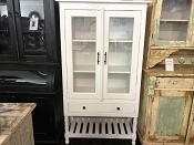 White Apothecary Glass Cabinet