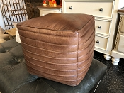 Square Leather Puffs