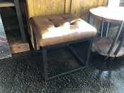 Norwood Brown Leather Stools
