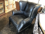 Black Leather Carlisle Chair
