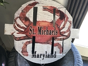 Maryland Made Painted Crab Pot Lids