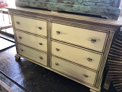 6 Drawer Cream Estate Dresser