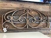 Cast Iron Half Moon Shaped Wall Accent