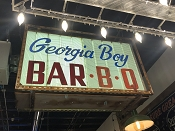 Georgia Boy Bar B Q Sign