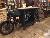 Triumph Teal Blue Motorcycle Bar