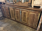 Reclaimed 6 Door Console or Hutch