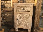 Hand Carved Flower End Tables