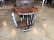 Iron Round Wood End Tables