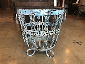 Teal Cast Iron Planter