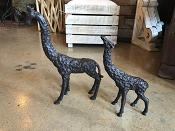 Pair of Giraffes  Iron Art Sculptures