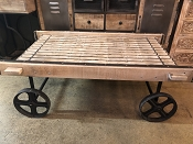 Iron Cart Coffee Table