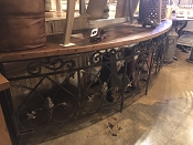 Ornate Iron Rounded Console