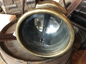 Early 1900s G. Docellier Paris Brass Car Lamp