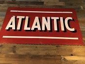 Atlantic Double-Sided Porcelain Sign
