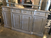 Ornate Carved 4 Drawer Media Or Serving Console
