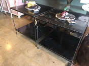 Nottingham Marble and Iron End Tables
