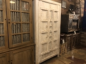 White Salvaged Door Armoire