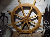 1800s - 1900s Iron and Wood Ship Wheel
