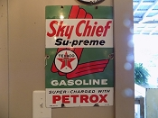 1961 Texaco Sky Chief Porcelain Sign