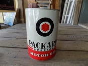1940s 5 Quart Packard Oil Can