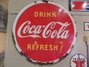 1936 Coca-Cola Lollipop Porcelain Double Sided Sign