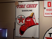 Fire Chief Texaco Gas Porcelain Sign