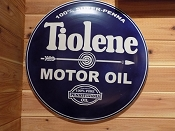 Tiolene Motor Oil Metal Button Sign