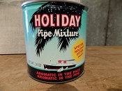 1940s Holiday Pipe Mixture Tobacco Tin