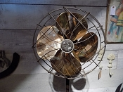 Standing Antique Brass Fan
