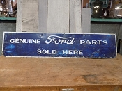 1940s Genuine Ford Parts For Sale Metal Sign