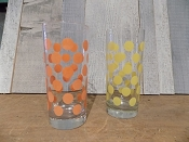 Retro Polka Dot Juice Glasses