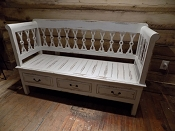Farmhouse White Bench
