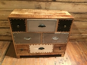 Reclaimed Mango Wood and Iron Chest