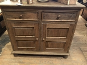 Rustic Natural Brown Wood Hutch
