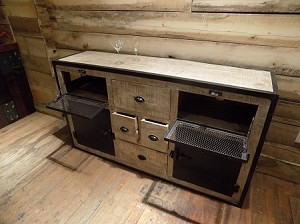 Iron and Wood Sideboard