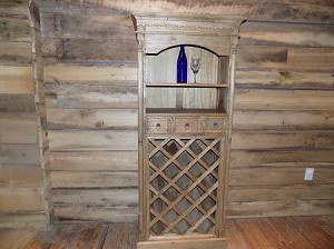 Rustic Reclaimed Wine Cabinet