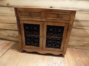 Honey Colored Console Cabinet