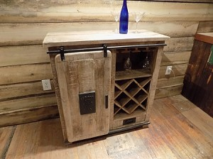 Wine Cabinet Iron Sliding Door