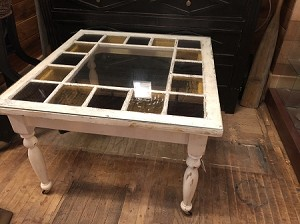 Vintage Stained Glass Window Coffee Table